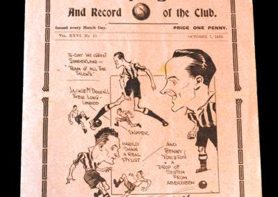 Spurs v Sunderland 07.10.1933