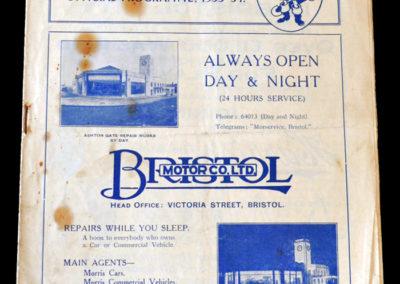Bristol Rovers v Swindon 28.10.1933