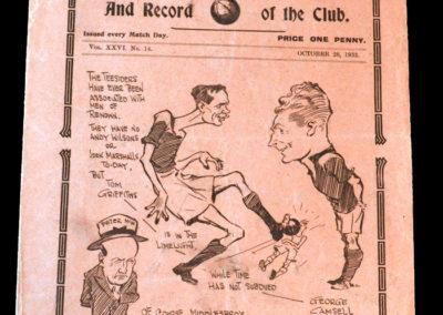 Spurs v Middlesbrough 28.10.1933