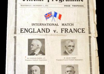 England v France 06.12.1933