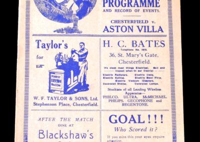 Chesterfield v Aston Villa 13.01.1934