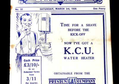Preston v Leicester 03.03.1934
