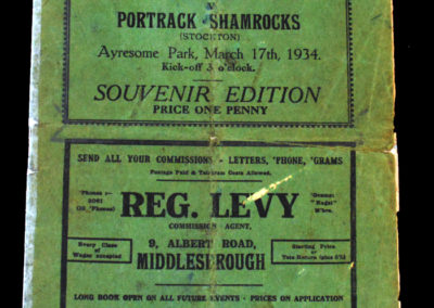 South Bank v Portrack 17.03.1934