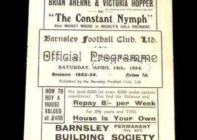 Barnsley v Stockport 14.04.1934