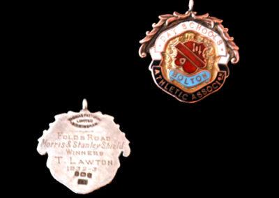 Tommy Lawton Schools Medal 32/33