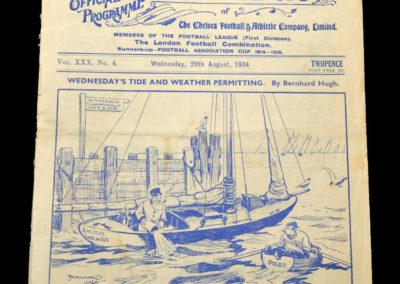 Chelsea v Sheff Wed 29.08.1934