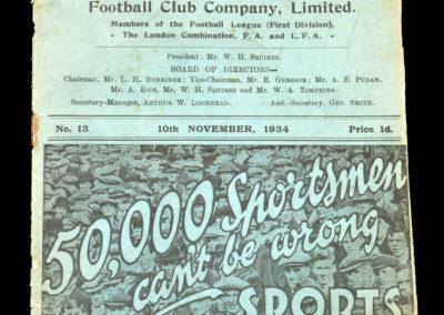 Leicester v Stoke 10.11.1934