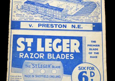Sheff Wed v Preston 17.11.1934