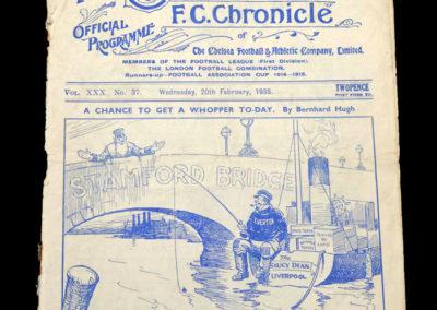 Chelsea v Everton 20.02.1935