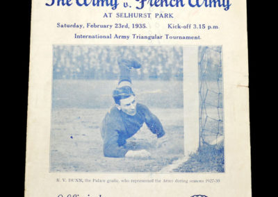 The Army v French Army 23.02.1935
