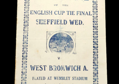 FA Cup Final - Sheff Wed v West Brom 27.04.1935 - Pirate Program