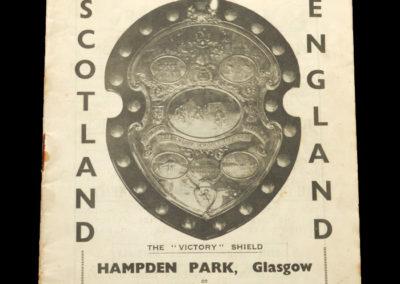 Scotland Schools v England 18.05.1935