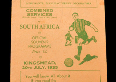 Combined Services v South Africa 20.07.1935