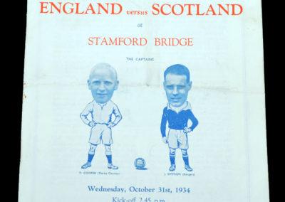 English League v Scottish League 31.10.1934