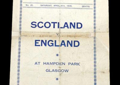 Scotland v England 06.04.1935