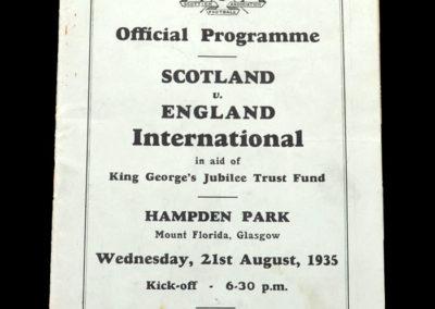 Scotland v England 21.08.1935