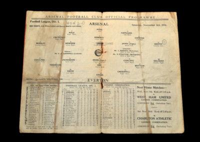 Arsenal v Everton 03.11.1934