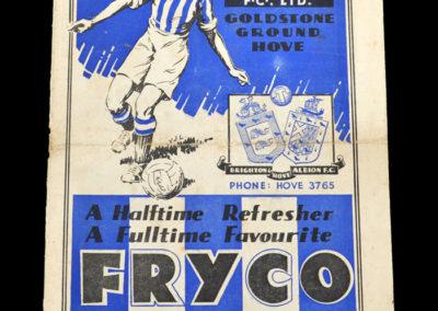 Brighton v Arsenal 12.01.1935