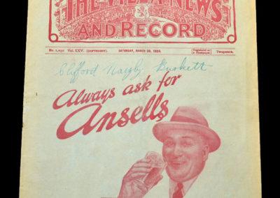 Aston Villa v Arsenal 30.03.1935