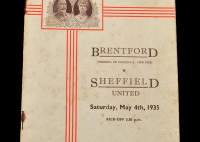Brentford v Sheffield Utd 04.05.1935