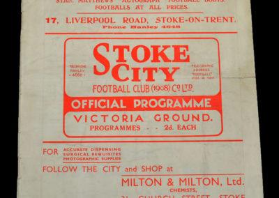 Stoke v Charlton 31.08.1936