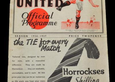 Manchester Utd v Sheff Wed 19.09.1936