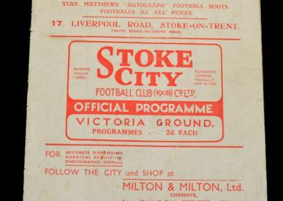 Stoke v Preston 17.10.1936