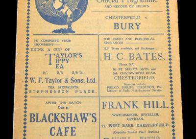 Chesterfield v Bury 05.12.1936
