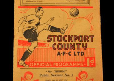 Stockport v Port Vale 30.01.1937