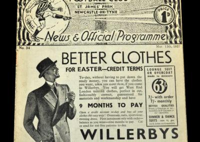 Newcastle v Coventry 13.03.1937