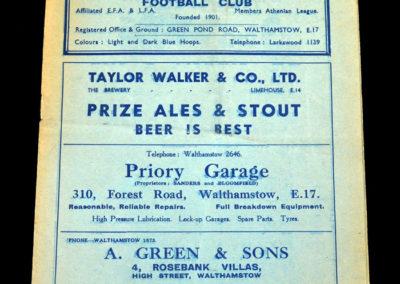 Walthamstow v Barking 26.03.1937