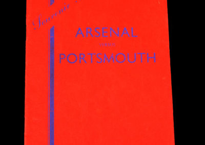 Arsenal v Portsmouth 19.04.1937 (Coronation Cup at Bath)