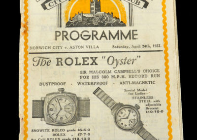 Norwich v Aston Villa 24.04.1937