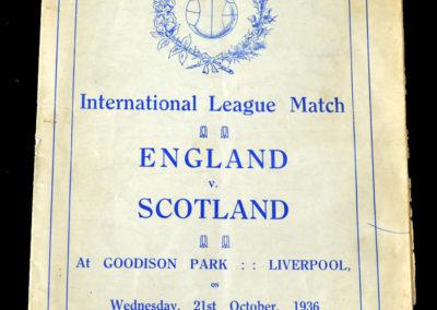 English League v Scottish 21.10.1936