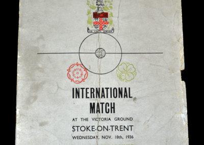 England v Ireland 18.11.1936