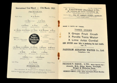 Probables v Possibles 17.03.1937 (English Trial)