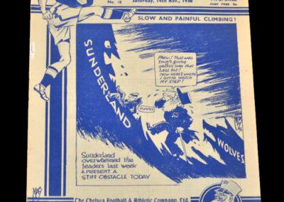 Chelsea v Sunderland 14.11.1936