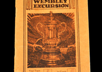 FA Cup Final - Sunderland v Preston 01.05.1937 - Railway Excursion and Ticket