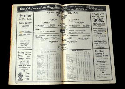 Brentford v Fulham 08.01.1938 3rd Round 3-1
