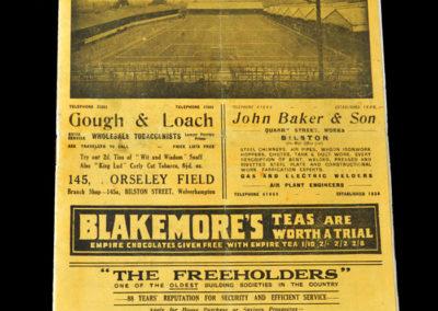 Wolves v Arsenal 22.01.1938 4th Rd 1-2