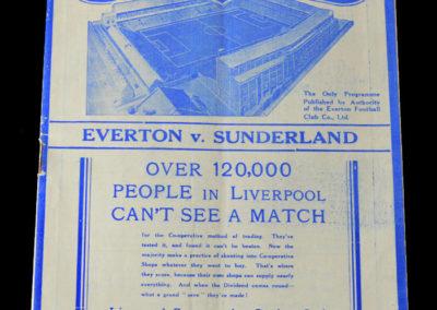 Everton v Sunderland 22.01.1938 4th Round 0-1
