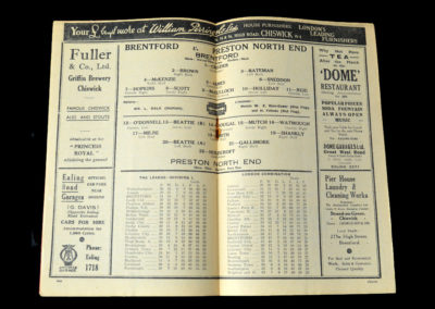 Brentford v Preston 05.03.1938 6th Rd 0-3