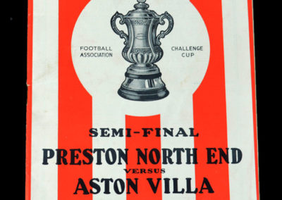Preston v Aston Villa 26.03.1938 Semi Final 2-1