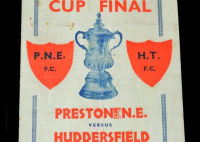 FA Cup Final - Huddersfield v Preston 30.04.1938 pirate programme