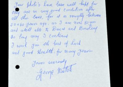 FA Cup Final - Huddersfield v Preston 30.04.1938 - Letter from George Mutch