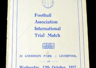 Probables v Possibles International Trial 13.10.1937