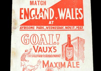 England v Wales 17.11.1937