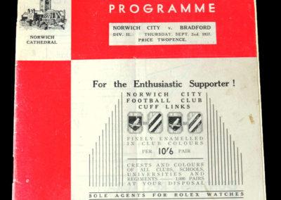 Norwich v Bradford PA 02.09.1937