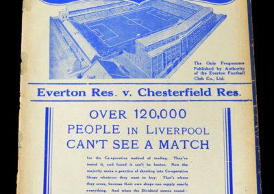 Everton Reserves v Chesterfield 08.01.1938