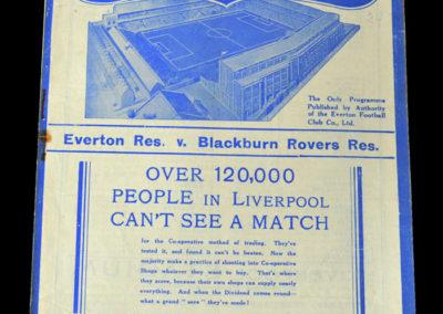 Everton Reserves v Blackburn 02.02.1938